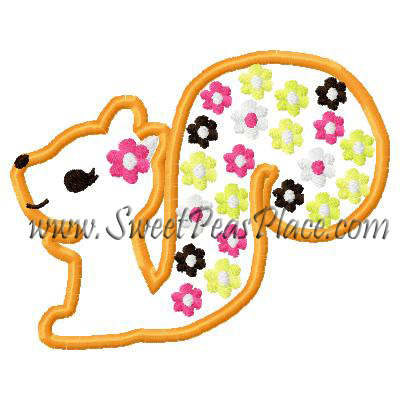 Fall For Autumn Squirrel Applique Embroidery Desig