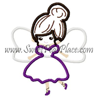 Sugar Plum Fairy Applique Embroidery Design