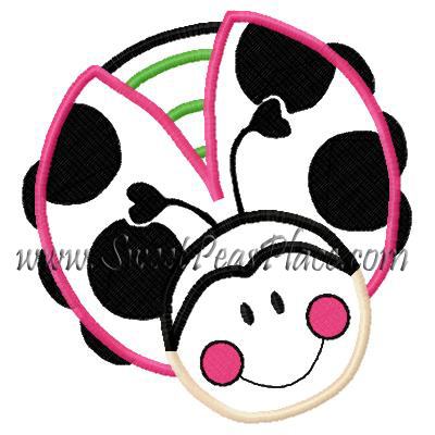 Ladybug 4 Applique Embroidery design