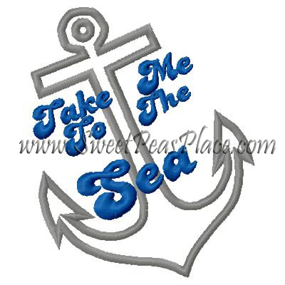 Take me to the Sea Applique Embroidery Design