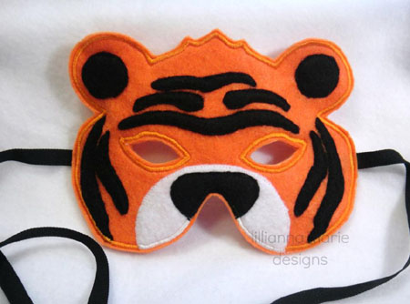 Tiger Mask in the Hoop Applique Embroidery Design