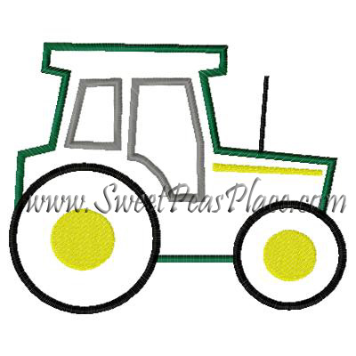 Tractor 2 Applique Embroidery Design