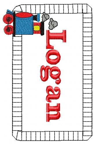 Train Choo Choo Applique Embroidery Design