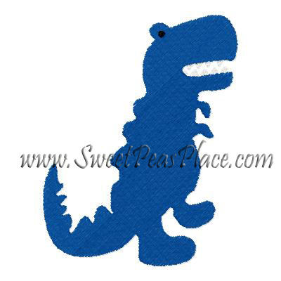 T Rex Filled Embroidery Design