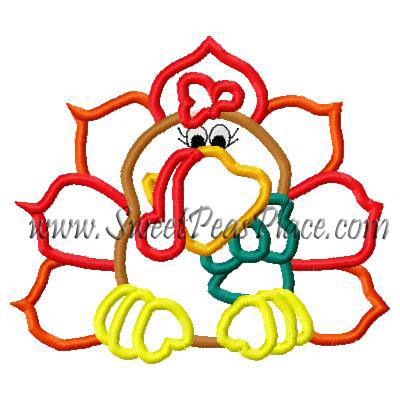 Turkey Tom 5 Applique Embroidery Design