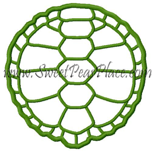 Turtle Shell Applique Embroidery Design