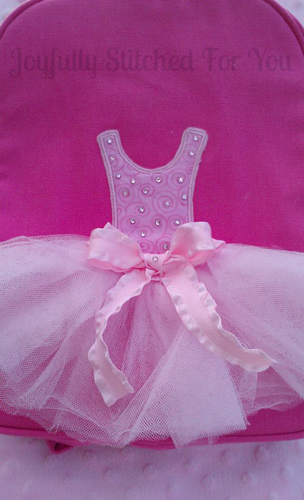 Tutu Applique Embroidery Design