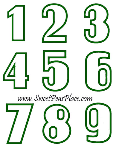 Number Set 1 1-9 Applique Embroidery Design