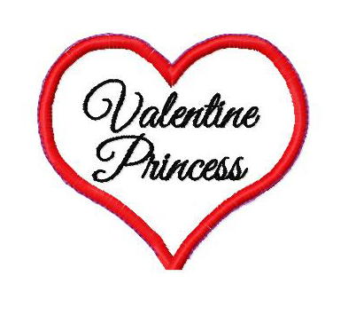 Valentine Princess Wand in the Hoop Applique Embroidery Design
