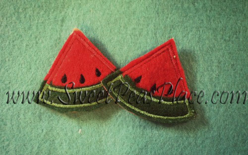 Watermelon for Felt Applique Embroidery Design