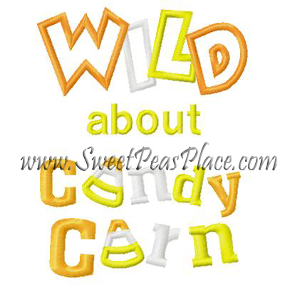 Wild about Candy Corn Applique Embroidery Design