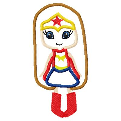 Wonder girl 2 Applique Embroidery Design