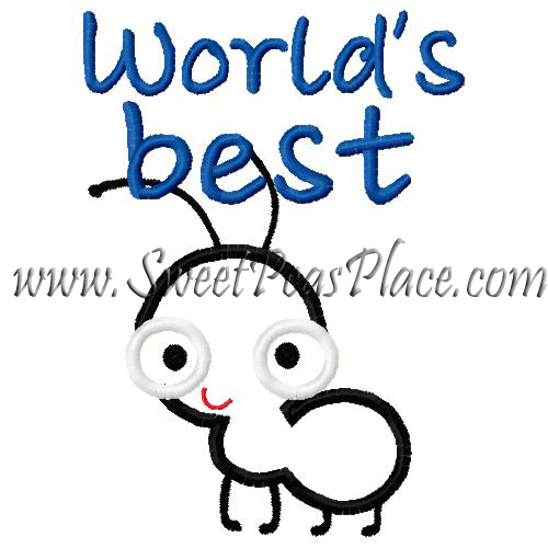 World's best Aunt Applique Embroidery Design