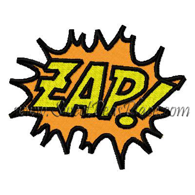 Zap Filled Embroidery Design